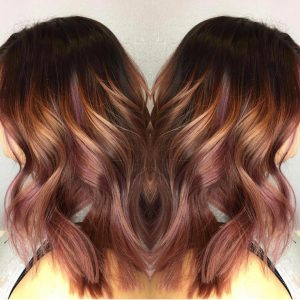 Vamp Salon Custom Rose Gold Copper Brittany Brewmen