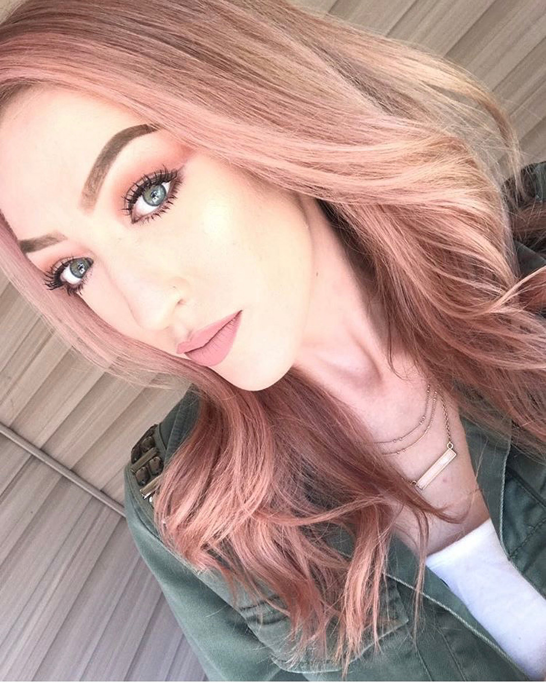 Vamp Salon Hairstyle Pink Blonde Rose Gold